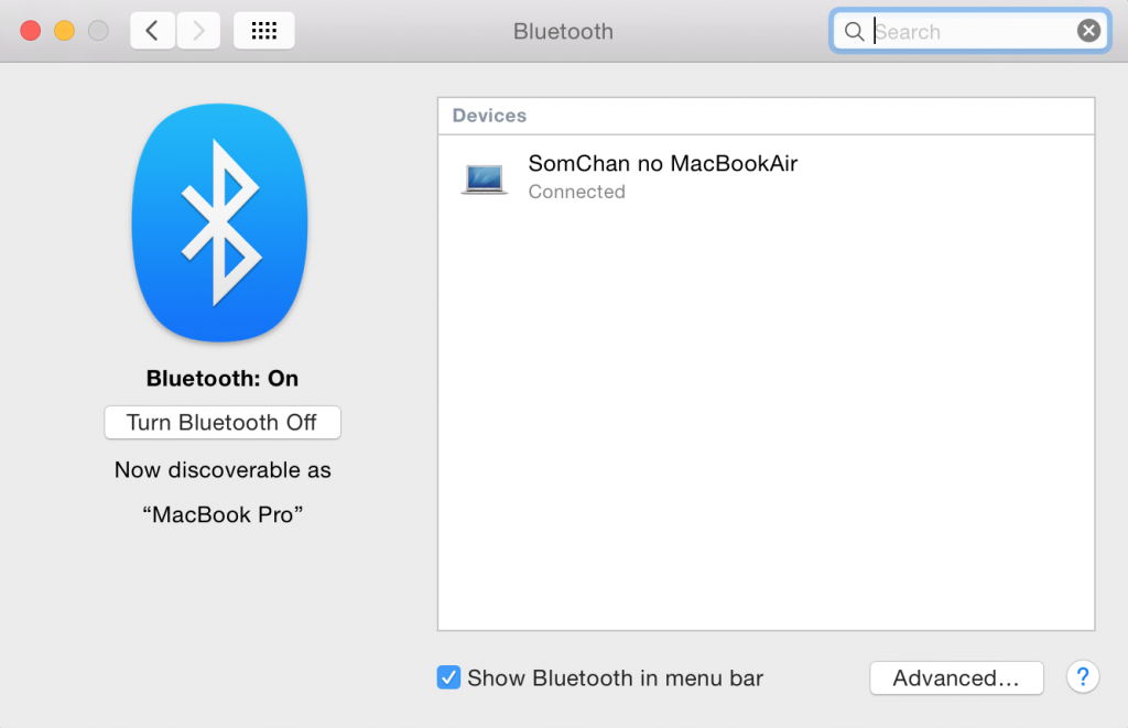 Bluetooth Preference