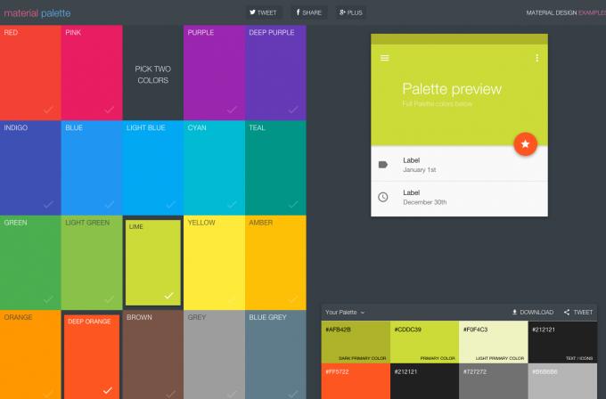 Material Design Color Palette Generator Material Palette