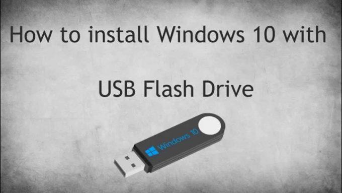 วิธีลง Windows 10 ด้วย Flash Drive